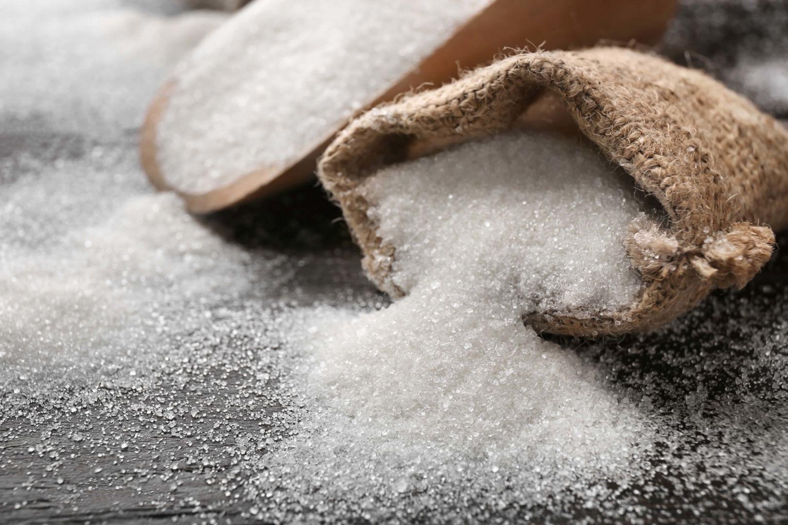 saco de azúcar blanco