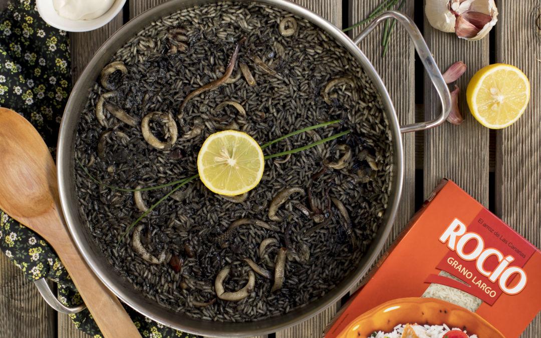 Arroz negro con calamares