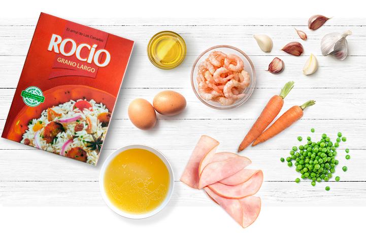 Ingredientes del Arroz Tres Delicias