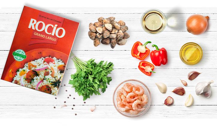ingredientes-para-preparar-un-arroz-con-almejas